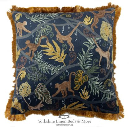 Midnight Monkey Cushion - Yorkshire Linen Beds & More P01