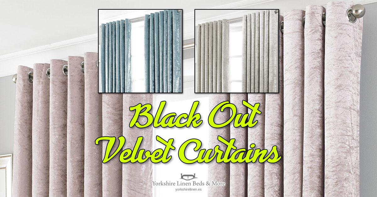 Promo Velvet Black Out Curtains - Yorkshire Linen Beds & More OG01