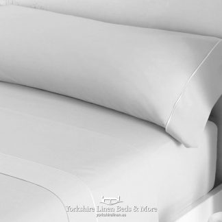 Luxury Sateen Bed Linen Silver 300TC Pillowcases Fitted Sheet Flat Sheets - Yorkshire Linen Beds & More