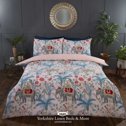 Raj Blush Pink Duvet Cover Set - Yorkshire Linen Beds & More