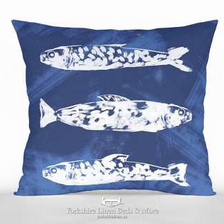 Abstract Fish Cushion Yorkshire Linen Beds & More