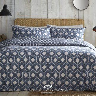 Apache Blue Duvet Cover Set - Yorkshire Linen Beds & More