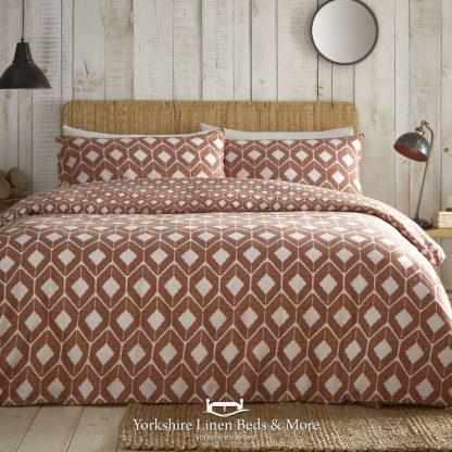 Apache Terracotta Duvet Cover Set - Yorkshire Linen Beds & More