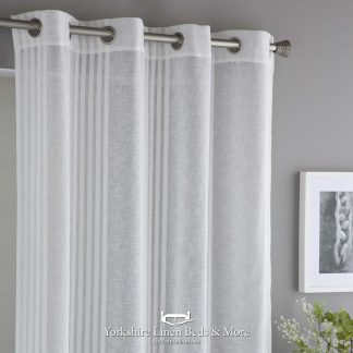 Carly Linen-Look Voile Panel, Extra Wide - Yorkshire Linen Beds & More
