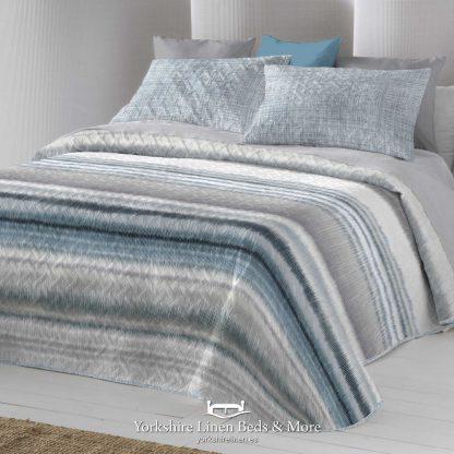 Iris Blue Bedspread - Yorkshire Linen Beds & More