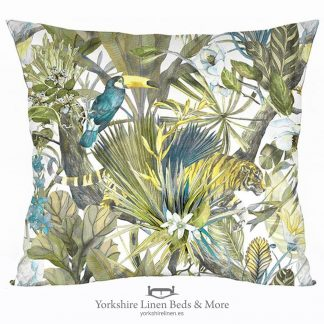 Tucan Blue Cushion - Yorkshire Linen Beds & More