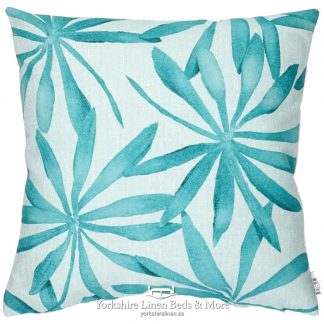 Abstract Palm Cushion - Yorkshire Linen Beds & More 2