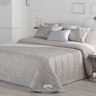 Alicia Bedspread, Silver - Yorkshire Linen Beds & More