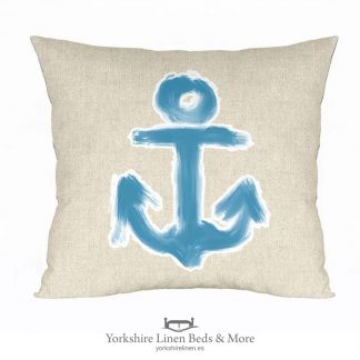 Anchors Away Cushion Cover, Linen - Yorkshire Linen Beds & More