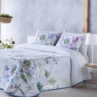Silvia Bedspread, Blue - Bedspread Design Ideas - Yorkshire Linen Beds & More