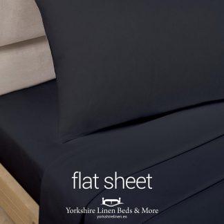 Black Polycotton Flat Sheets - Yorkshire Linen Beds & More P03