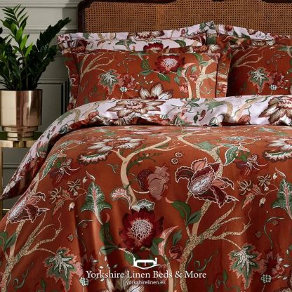 Botanical 100 Cotton Duvet Cover Set, Russet P01