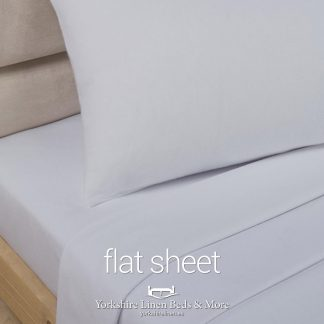 Grey Polycotton Flat Sheets - Yorkshire Linen Beds & More P03