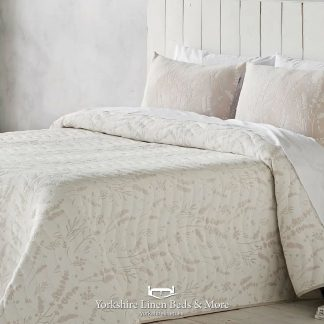 Laura Jacquard Bedspread, Blush - Bedspreads & Throws - Yorkshire Linen Beds & More
