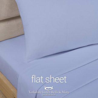Light Blue Polycotton Flat Sheets - Yorkshire Linen Beds & More P03