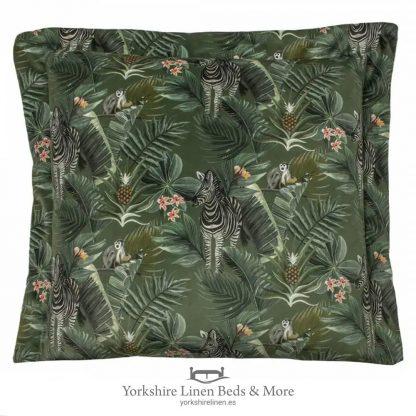 Manyara 50cm Velvet Cushion, Zebra - Cushions & Cusion Covers - Yorkshire Linen Beds & More