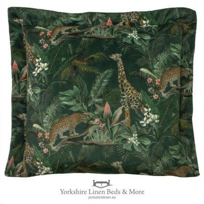 Manyara Velvet Cushion, Giraffe - Cushions & Cusion Covers - Yorkshire Linen Beds & More