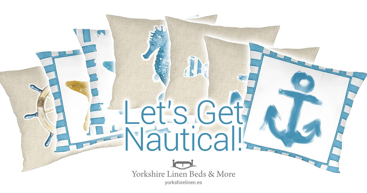 Nautical Cushions - A Range of 7 Cushion Designs Inspired by the Sea - Yorkshire Linen Beds & More