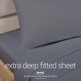 Polycotton Extra Deep Fitted, Charcoal Grey - Yorkshire Linen Beds & More P01