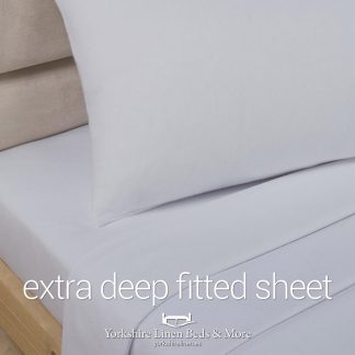 Polycotton Extra Deep Fitted, Light Grey - Yorkshire Linen Beds & More P01