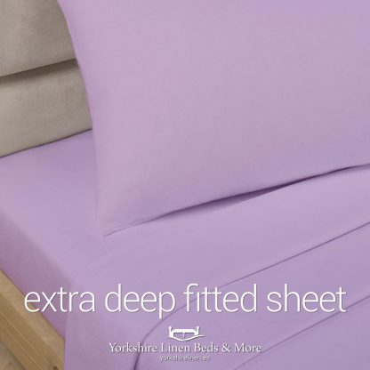 Polycotton Extra Deep Fitted, Lilac - Yorkshire Linen Beds & More P01
