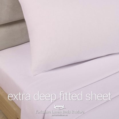 Polycotton Extra Deep Fitted, Pale Pink - Yorkshire Linen Beds & More P01