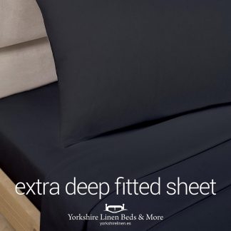 Polycotton Extra Deep Fitted Sheets, Black - Yorkshire Linen Beds & More P01