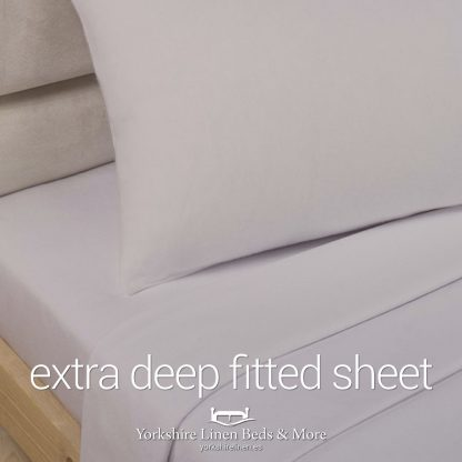 Polycotton Extra Deep Fitted, Stone - Yorkshire Linen Beds & More P01