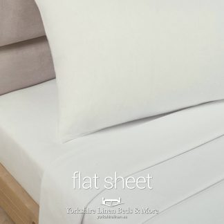 Polycotton Flat Sheets, Ivory - Yorkshire Linen Beds & More P03