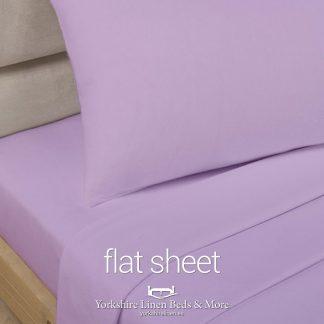Polycotton Flat Sheets, Lilac - Yorkshire Linen Beds & More P03