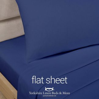 Polycotton Flat Sheets Navy Blue - Yorkshire Linen Beds & More P03