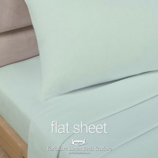 Polycotton Flat Sheets, Soft Green - Yorkshire Linen Beds & More P03
