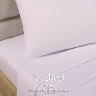 Polycotton Flat Sheets, Soft Pink - Yorkshire Linen Beds & More P03