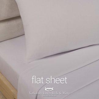 Polycotton Flat Sheets, Stone - Yorkshire Linen Beds & More P03