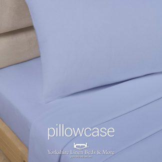 Polycotton Pillowcases, Light Blue - Yorkshire Linen Beds & More P01