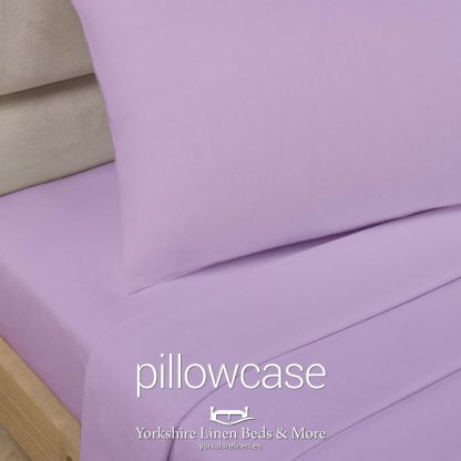 Polycotton Pillowcases, Lilac - Yorkshire Linen Beds & More P01