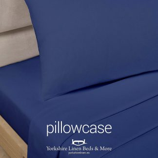 Polycotton Pillowcases, Navy Blue - Yorkshire Linen Beds & More P01
