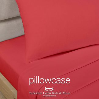 Polycotton Pillowcases, Red - Yorkshire Linen Beds & More P01
