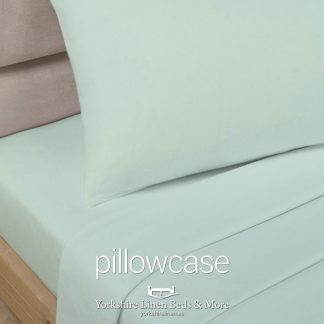 Polycotton Pillowcases, Soft Green - Yorkshire Linen Beds & More P01