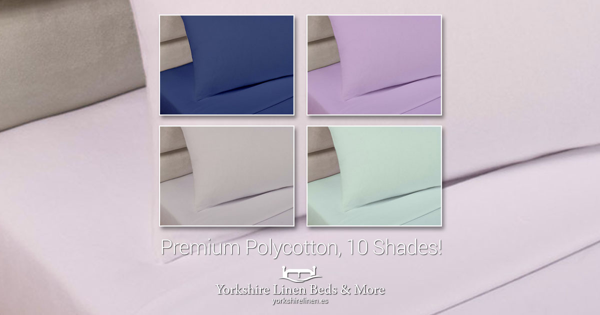 Premium Polycotton Extra Deep Sheets & Pillowcases in 10 Colours