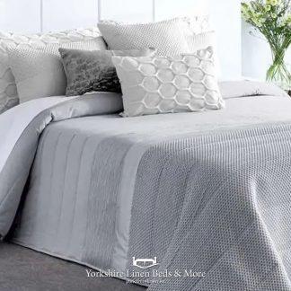 Rosa Quilted Bedspread, Grey - Bedspread Design Ideas - Yorkshire Linen Beds & More