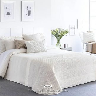 Rosa Quilted Bedspread, Ivory - Bedspread Design Ideas - Yorkshire Linen Beds & More