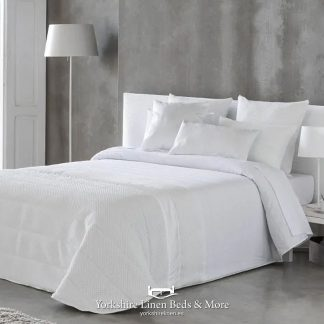 Rosa Quilted Bedspread, Pure White - Bedspread Design Ideas - Yorkshire Linen Beds & More