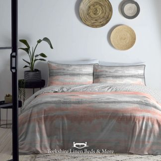 Abstract 100% Cotton Duvet Cover Set, Dark Coral - Duvets Covers & Sets - Yorkshire Linen Beds & More