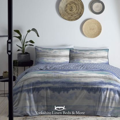 Abstract 100% Cotton Duvet Cover Set, Navy - Duvets Covers & Sets - Yorkshire Linen Beds & More