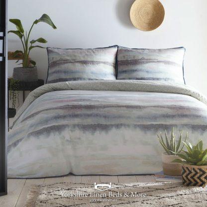 Abstract 100% Cotton Duvet Cover Set, Seafoam - Duvets Covers & Sets - Yorkshire Linen Beds & More