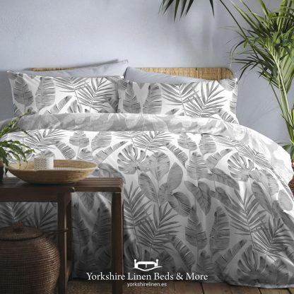 Hawaii Duvet Cover Set, Grey - Duvets Covers & Sets - Yorkshire Linen Beds & More