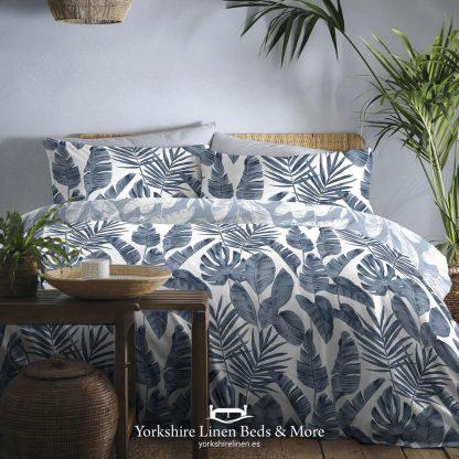 Hawaii Duvet Cover Set, Navy - Duvets Covers & Sets - Yorkshire Linen Beds & More
