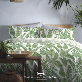 Hawaii Duvet Cover Set, Soft Green - Duvets Covers & Sets - Yorkshire Linen Beds & More