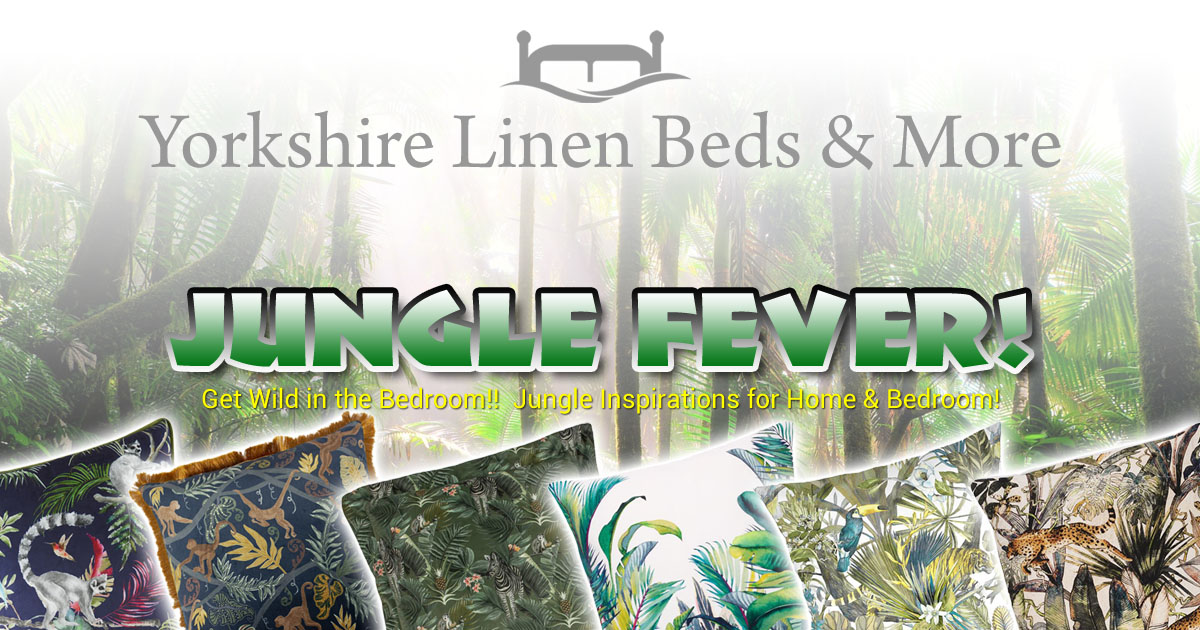 Jungle Fever - Tropical, Exotic Bed Linen, Cushions & Curtains, Yorkshire Linen Beds & More